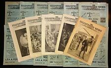 1891-1892 THE ILLUSTRATED NEWS OF THE WORLD 38 Issue Lot London News Blocks, Ads