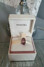 Genuine Silver Pandora Bracelet Charm - Pink Bubbles Murano Glass Bead -With Box