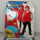 Dr Seuss Red Fish Halloween Costume Spirit 2 Pc Hood Jumpsuit Toddler 5T-6T 2017