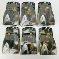 "Lot of 6 Playmates Toys 2009 Star Trek Warp Collection 6"" Tall Action Figures"
