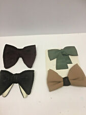 Lot of 4 Mens Vintage 70's Original Bow Ties Pretied with Clips