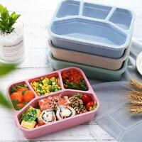 Microwave Bento Lunch Box Picnic Food Fruit Container With Compartments Straw