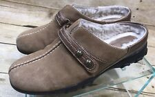 Cole Haan Leather Womens Shoes Clogs Sheep Fur Lined Saddle Loafers Mules Sz 8