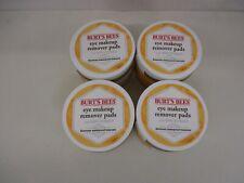 4 BURT'S BEES EYE MAKEUP REMOVER PADS - 35 COUNT EA - EXP: 2/22+ JK 7970
