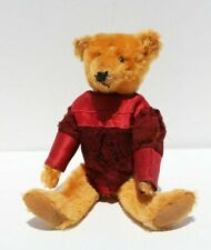 Antique Cinnamon Colored Mohair Teddy Bear with Shoe Button Eyes Antique Costume