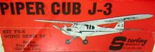 """Two Sterling & MEN J-3 CUB PLANS to Scratch-Build 54"""" Span RC Model Airplanes"""
