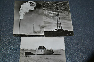 Hassi Messaoud Sahara. 3 cartes postales (Années 50-60 ?)