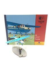 En Avion Tintin l'avion bleu de muller l'ile noire   N23 + livret