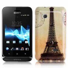 Hardcase für Sony xperia Tipo Dual St21i Eiffelturm orange Etui Hülle Schutzcase