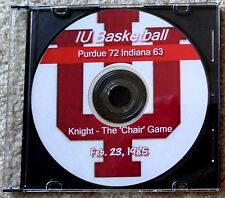 DVD INDIANA - PURDUE BASKETBALL 1985 - KNIGHT 'THE CHAIR' GAME