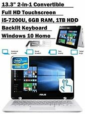 Asus ASUS Q304UA 13.3-in 2-in-1 Touchscreen Full HD Laptop PC, 7th Intel Core