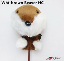 A99 Golf Animal Wood Headcover Wht-brown Beaver Head Cover