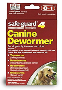 Dog Dewormer Canine 8 in 1 Safe Guard Dogs Large Puppies Pet Wormer 4g