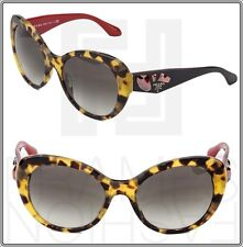 PRADA VOICE Cat Eye Sunglasses Havana Black Red Jewel Women PR 26Q PR26QS