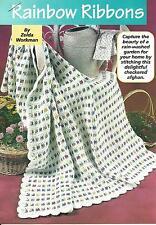 *Rainbow Ribbons Afghan crochet PATTERN INSTRUCTIONS