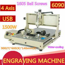 Cnc 6090 Router 4axis 3d 15kw Woodworking Metal Engraving Milling Machine Sale