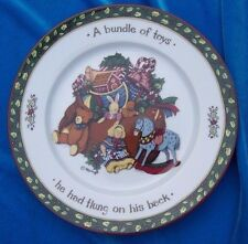 Portmeirion Studio Christmas Story Dessert Salad Plate A Bundle of Toys