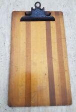 Vintage Globe Wernicke Narrow Wood Slat File Clipboard