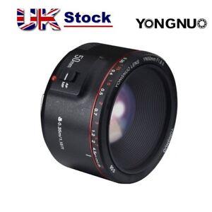 Yongnuo YN 50mm F/1.8 II Prime Lens Auto Focus AF MF for Canon EF 5D2 1300D UK