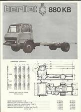BERLIET 880 KB  LORRY TRUCK SALES BROCHURE 1974 1975 ENGLISH
