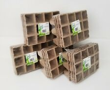 5 Pack x Garden Ease Peat Pots Seed Starting Starter Plant 240 Cells 20 Planters