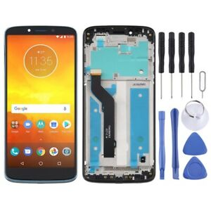For Motorola Moto E5 Plus Frame LCD Replacement Display Digitizer Touch BLACK