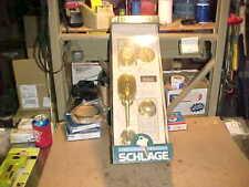 1) SCHLAGE Entrance Handle Set, P531-072, Bright Brass, F160NV **Cheap**