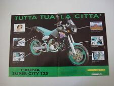 advertising Pubblicità 1991 MOTO CAGIVA SUPER CITY 125