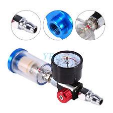 Mini Air Pressure Regulator Gauge Spray Gun & In-Line Water Trap Air Filter