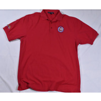 Mens Port Authority Palo Verde Nuclear Plant Red Polo Size XLT