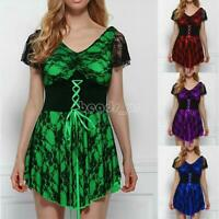 4 Colors Fashion Women Dress Short Sleeve Casual Mini Dress Plus Size S-5XL New