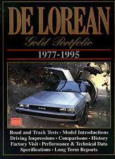 DELOREAN BOOK DMC CAR PORTFOLIO DE LOREAN DMC12 BROOKLANDS GOLD