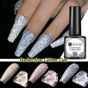 UR SUGAR Reflective Glitter Gel Polish UV LED Colour Base Top Coat Soak Off