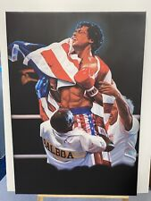 Rocky Balboa Gym Movie Canvas Wall Art Picture Print Ready To Hang Large 1m Tall