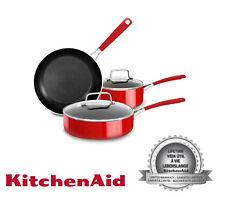 KitchenAid KC2AS05BER Empire Red Aluminum Nonstick 5 Piece Cookware Set