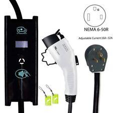 Electric Vehicle Level 2 EV Charger 32 Amp 6-50 Plug ADJUSTABLE 25ft 240 Volt