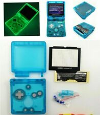 GBA SP Game Boy Advance SP Replacement Housing Shell Glow in the Dark Clear Blue