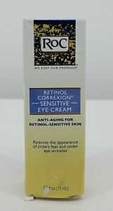 RoC Retinol Correxion Sensitive Eye Cream Anti-Aging 0.5 oz