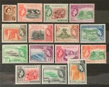 More details for dominica. definitive short stamp set. sg140+. 1954-62. (1 oct). mnh. #ets49.