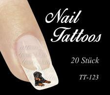Nail Art Tattoo Rottweiler Tiere Hund 20 St. TT-123