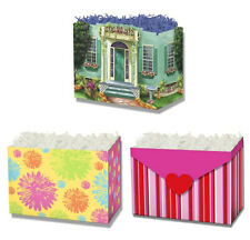 Gift Basket Boxes - Call It Home, Floral Stamp, Heart & Stripes - 18 boxes New!