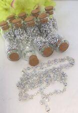 100PC-Wedding Favors Rosary Keepsake Giveaway Bride Groom Glass Recuerdos Boda