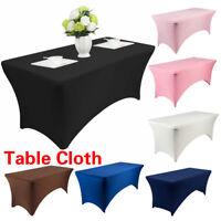 Rectangular Table Cover Spandex Elastic Tablecloth Wedding Party Home Decor