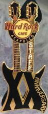 "Hard Rock Cafe ACAPULCO 2009 20th Anniversary STAFF PIN ""XX"" Guitar - HRC #52417"