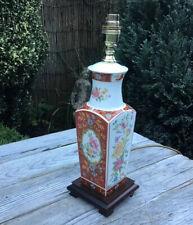 VINTAGE CERAMIC FLORAL TABLE LAMP