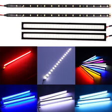 2 LED 12V Strip DRL Daytime Running Light Bar Home Car Van Interior Lights Decor