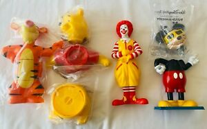 RONALD MICKEY POOH TIGGER Build A McDonalds Happy Meal Toys 2000 Promotional A2