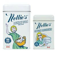 Nellie's All-Natural Laundry Soda 3.3 lbs and Oxygen Brightener 2 lbs