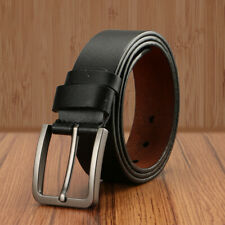 Men's Classic Metal Buckle Handcrafted Genuine Leather Jean Vintage Solid Belt