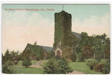 St John's Church Peterborough Ontario Canada 1910c postcard